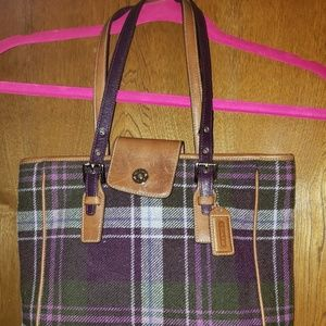Vintage plaid Coach cloth purse